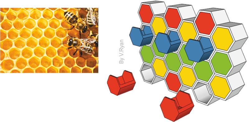 Storage inspired by nature. Honeycomb clipart sketch
