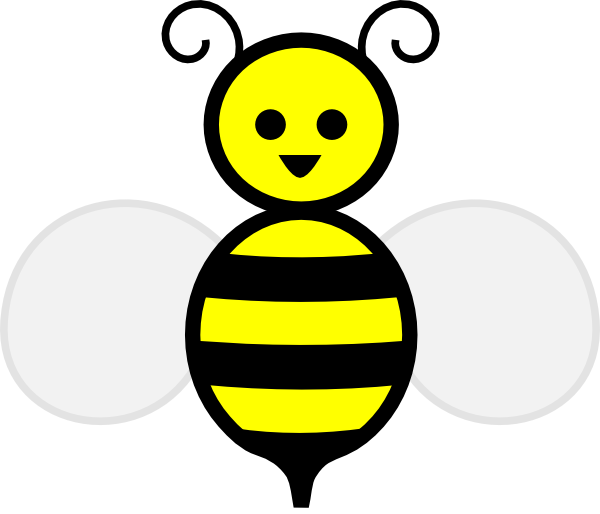 Bumble outline best lds. Kid clipart bee