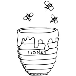 Honey clipart sketch. Pot at paintingvalley com