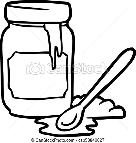 Drawing free download best. Honey clipart sketch