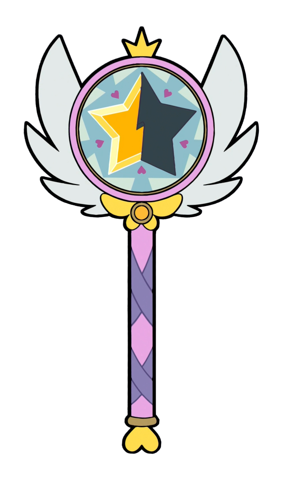 Season by star butterfly. Magic clipart hand holding wand