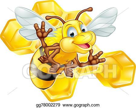 Vector art cartoon cute. Honeycomb clipart animated