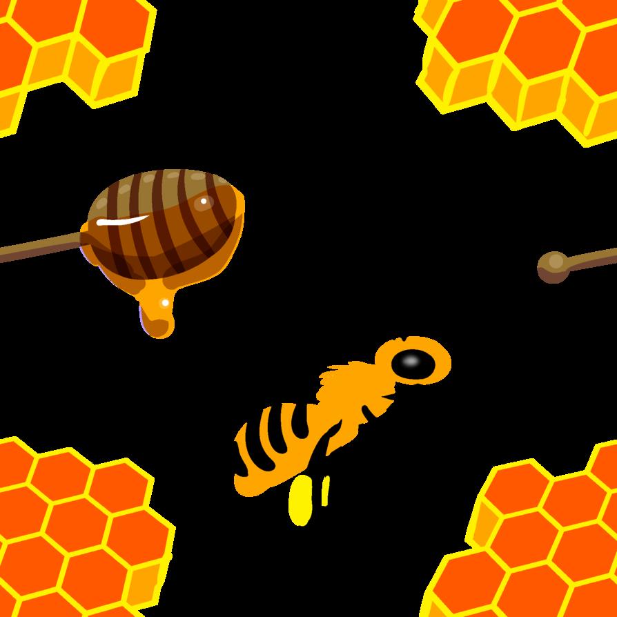 Honeycomb clipart bee pollination. Honey bees by avionscreator