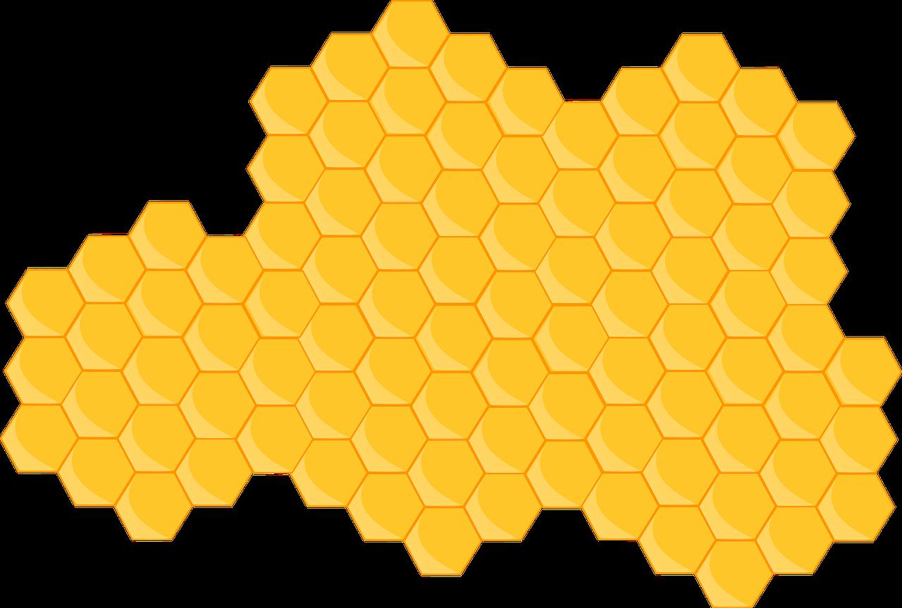 Free image on pixabay. Honeycomb clipart beehive shape