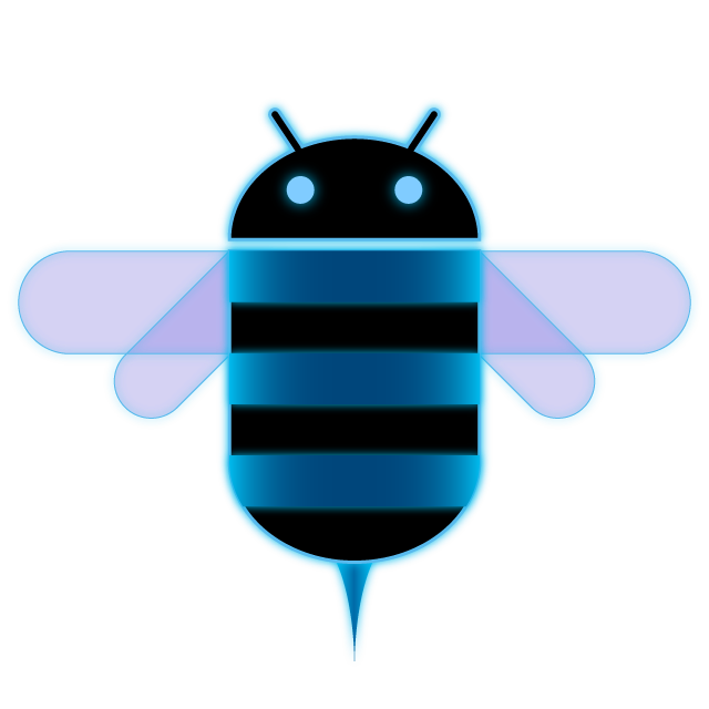 Honeycomb clipart bumble bee. The android logo is