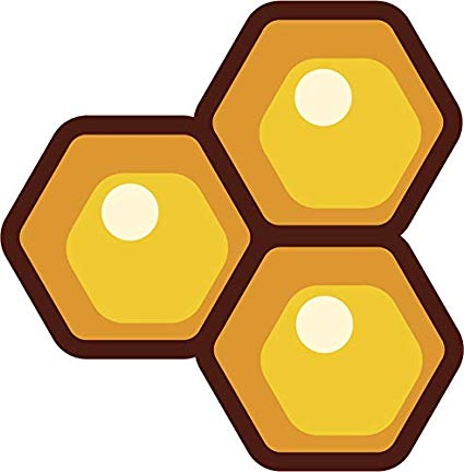 Amazon com simple golden. Honeycomb clipart cute