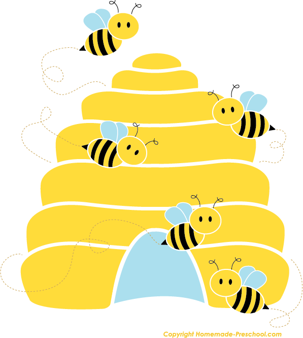 Free bee click to. Honeycomb clipart cute