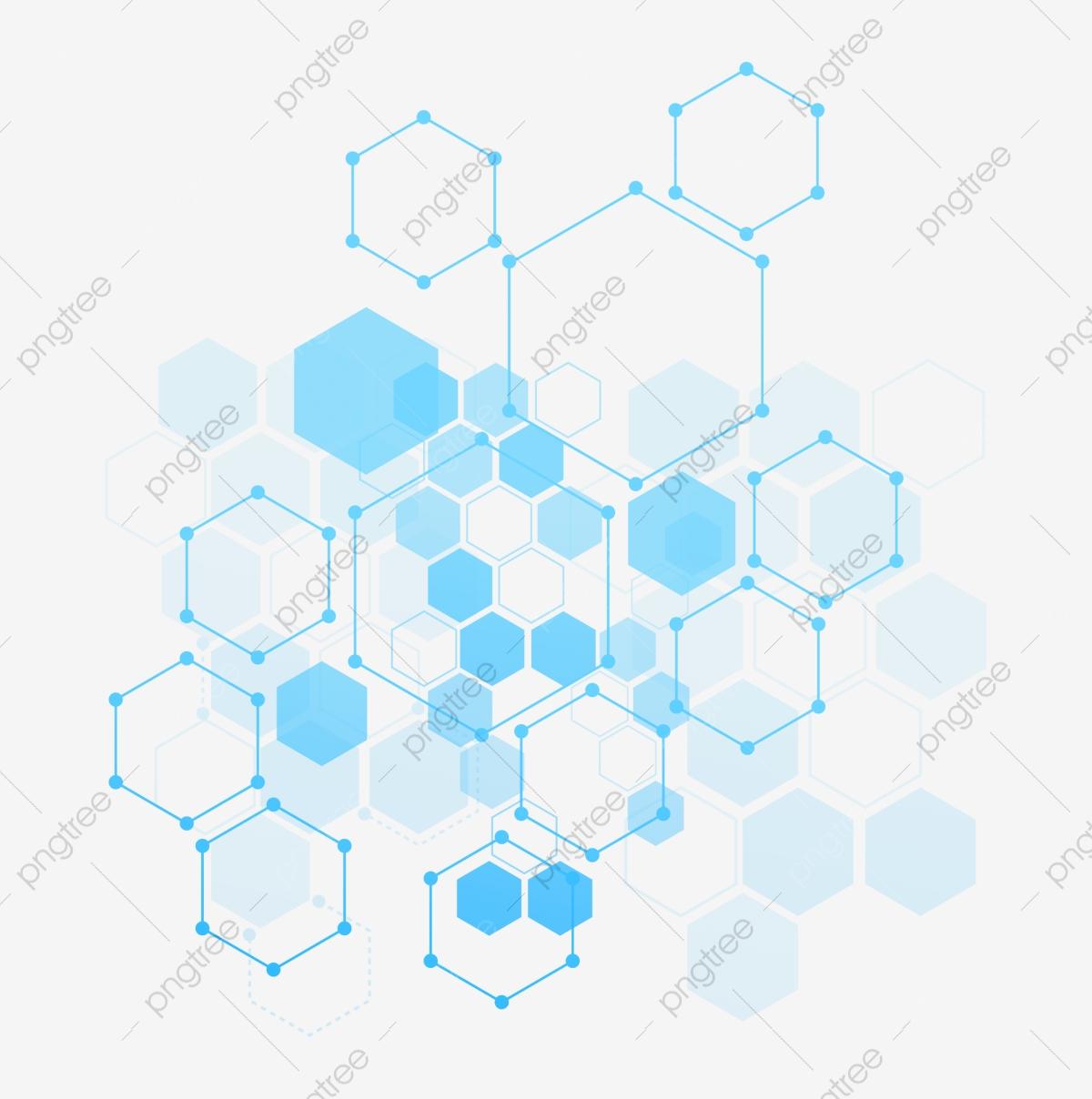 Honeycomb clipart geometric. Blue line polygon geometry