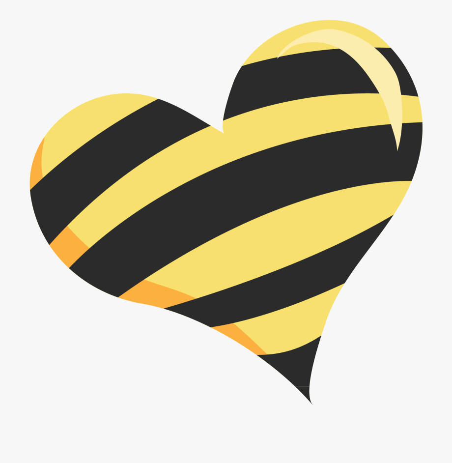 Honeycomb clipart heart. Background black and yellow