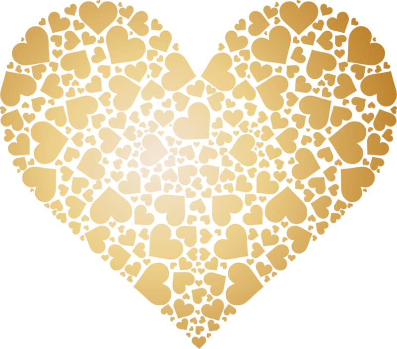 Honeycomb clipart heart. Valentines day gold png