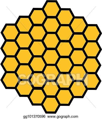 Honeycomb clipart hexagon. Vector art bee honey