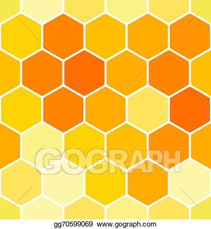 Vector art seamless pattern. Honeycomb clipart honeycomb background