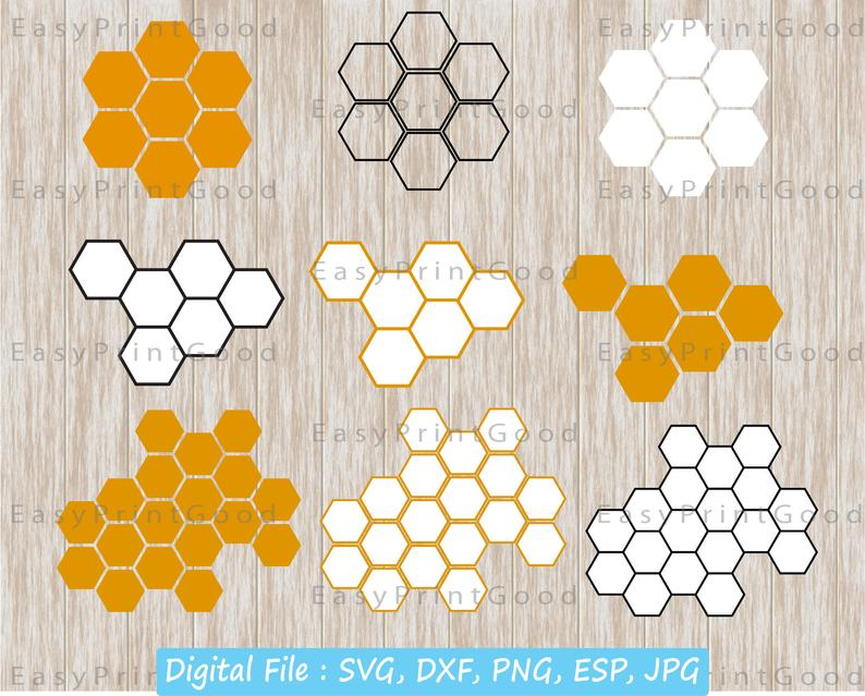 Honeycomb clipart honeycomb background. Svg pattern digital download
