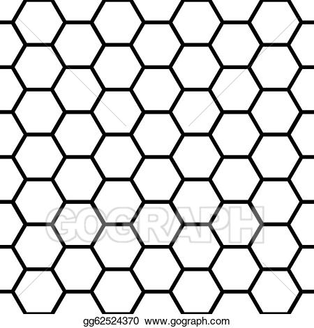 Honeycomb clipart honeycomb design. Vector stock seamless black