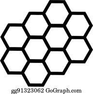 Honeycomb clipart outline. Vector art bee honey