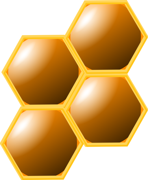 I royalty free public. Honeycomb clipart outline