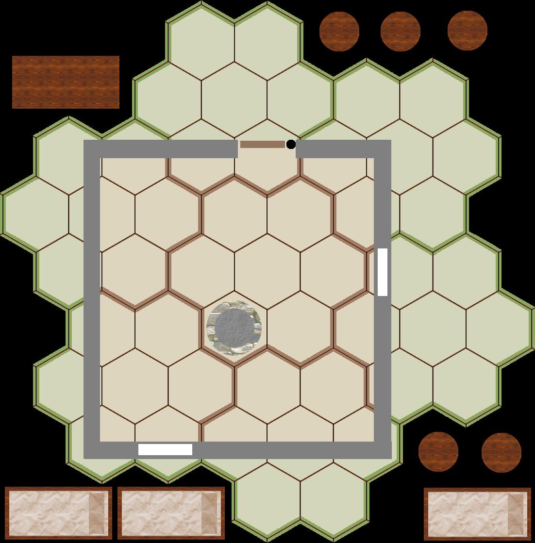 Modular map tiles oneroom. Hut clipart hovel