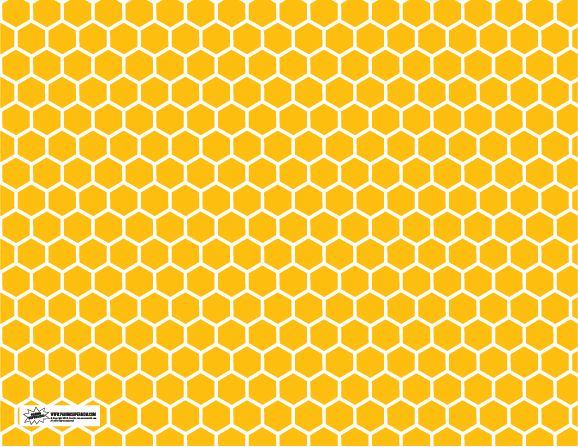 Printable pattern bumble bee. Honeycomb clipart print paper