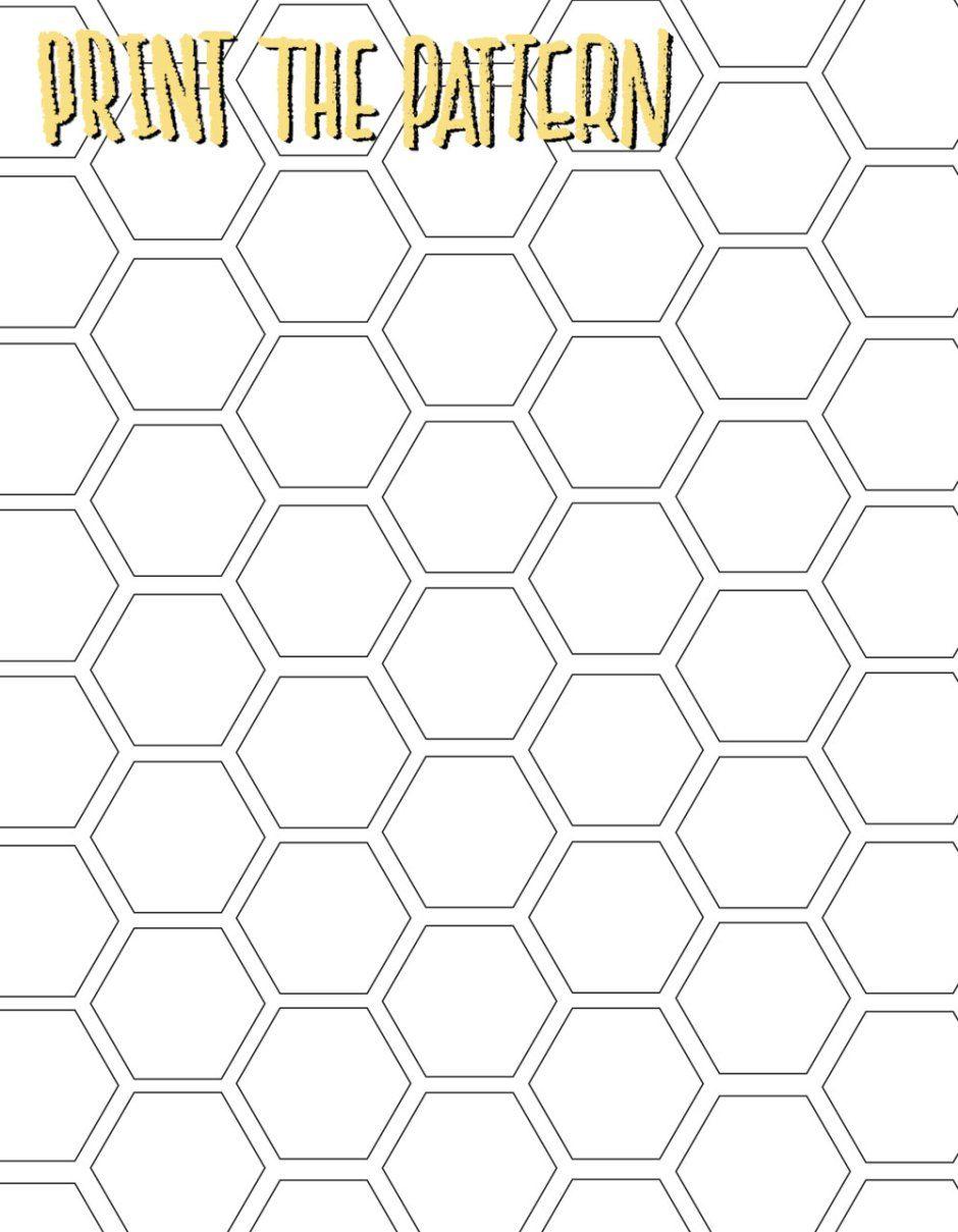 Honeycomb clipart print paper. Diy creative