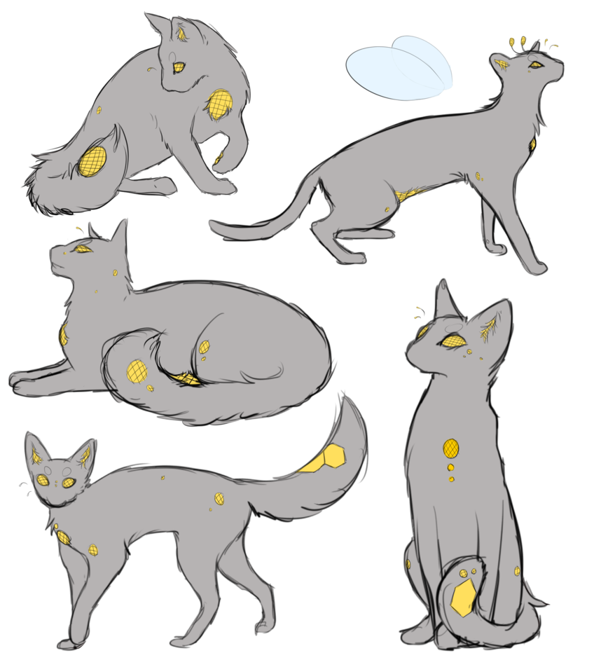 Honeycomb clipart sketch. Cat page by honey