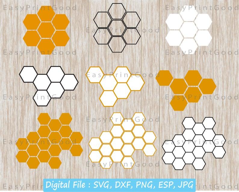 Background pattern digital download. Honeycomb clipart svg