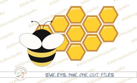 Bee honeybee honey bees. Honeycomb clipart svg