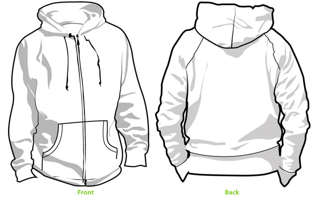 collection of zip. Hoodie clipart