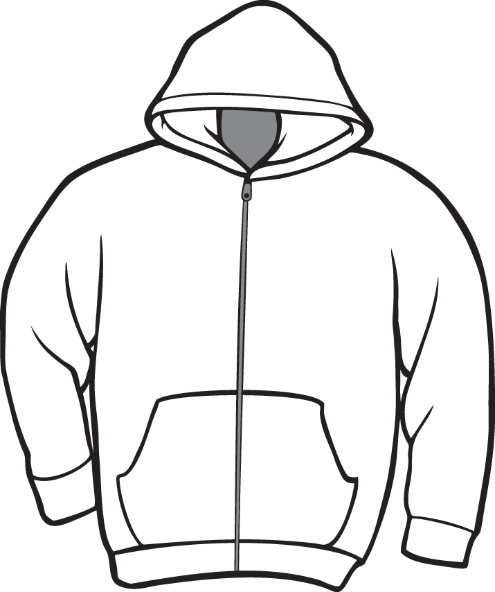 Hoodie clipart.  collection of black