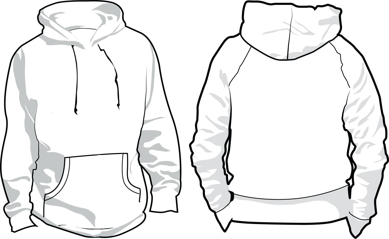 Vibrant template sweater cilpart. Hoodie clipart