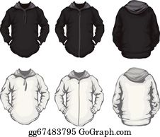 Hoodie clipart black and white. Clip art royalty free