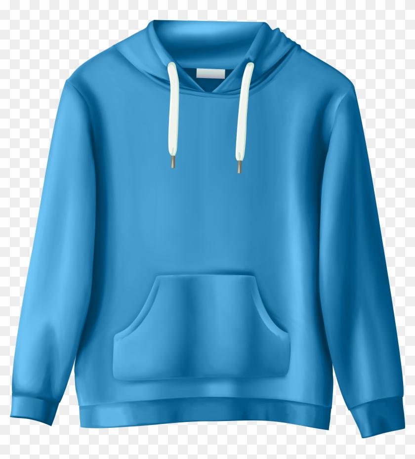 Sweatshirt png clip art. Hoodie clipart blue hoodie