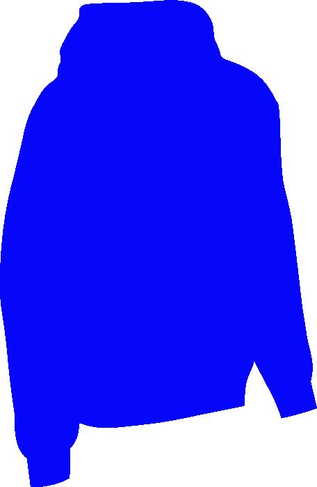 Mantis ladies oversized sleeveless. Hoodie clipart blue hoodie