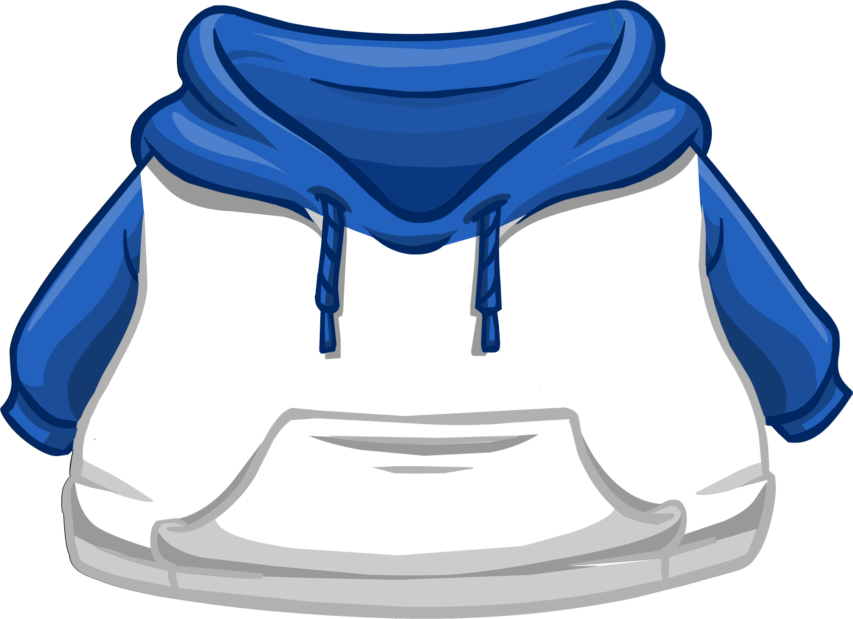 And white two tone. Hoodie clipart blue hoodie