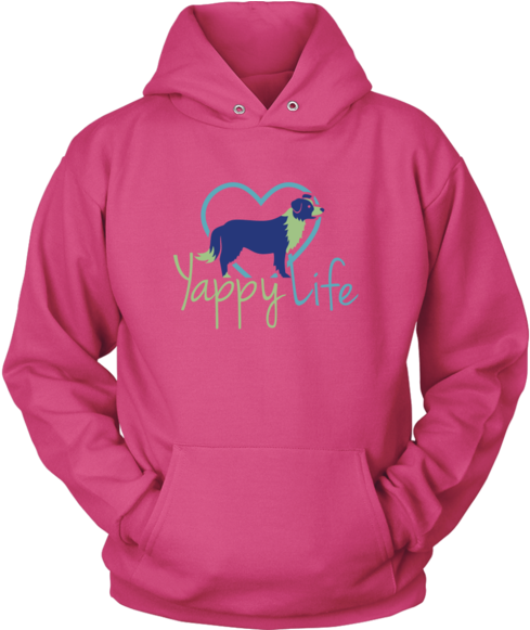 Hoodie clipart clip art. Yappy life border collie