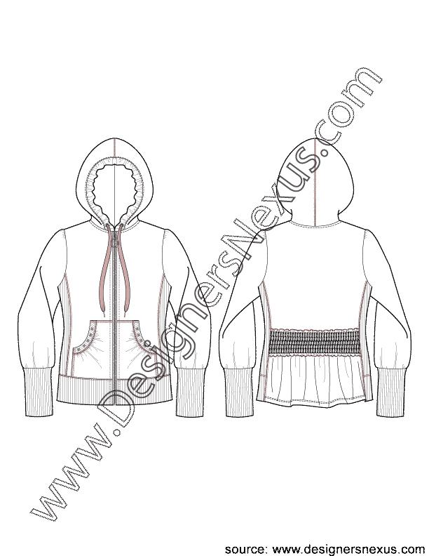 Jacket flat v of. Zipper clipart sketch
