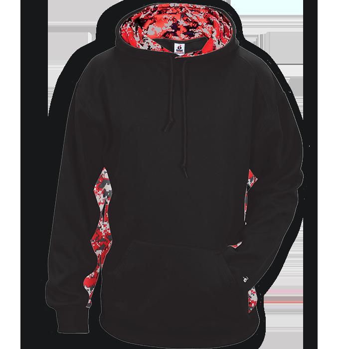 Hoodie clipart garment. Badger digital camo hooded