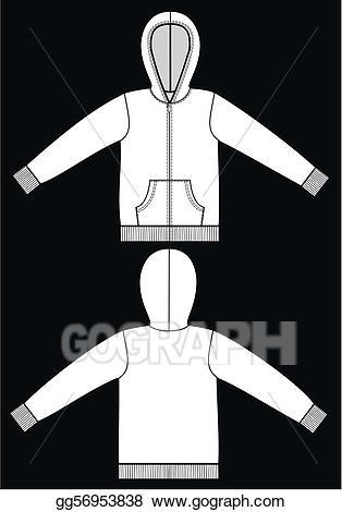 Vector sketch illustration . Hoodie clipart garment