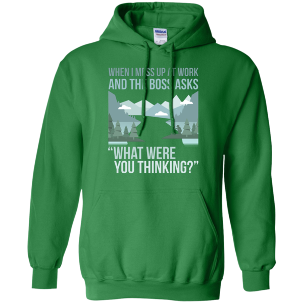 What were you thinking. Hoodie clipart green