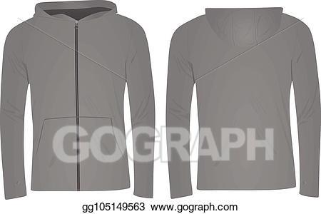 Hoodie clipart grey hoodie. Vector art eps gg