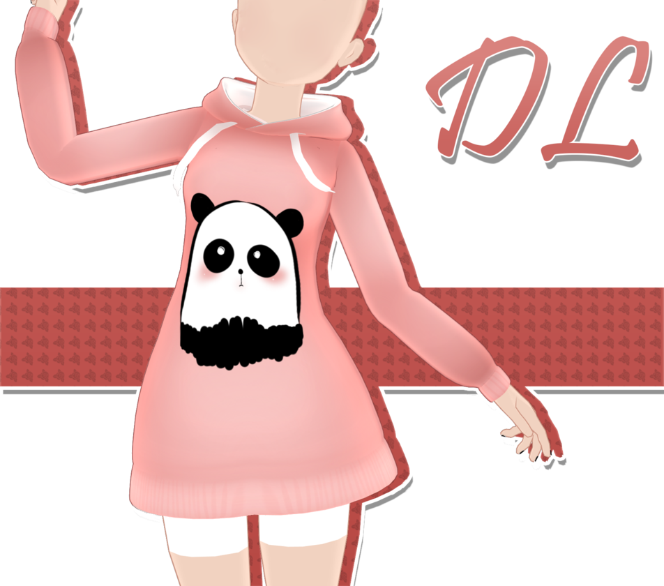 Hoodie clipart pink jacket. Mmd download by anecoco