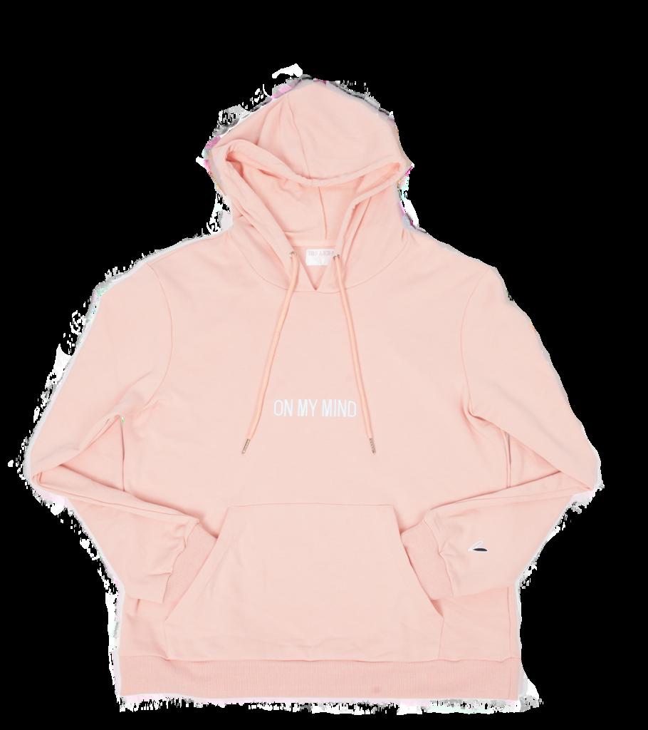Rose on my mind. Hoodie clipart pink jacket