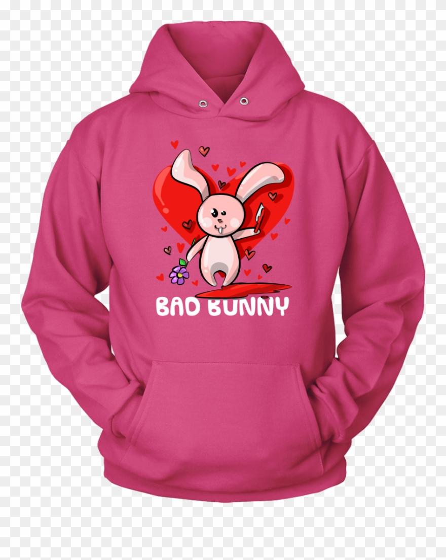 Bad bunny shirt pinclipart. Hoodie clipart pink jacket