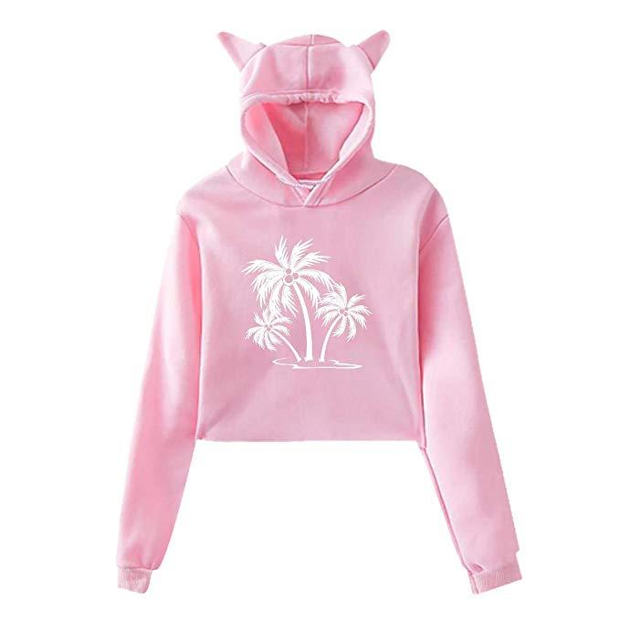 Hoodie clipart pink jacket. Amazon com cat ear