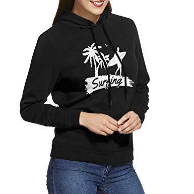 Hoodie clipart pullover hoodie. Surfing wave ladies long