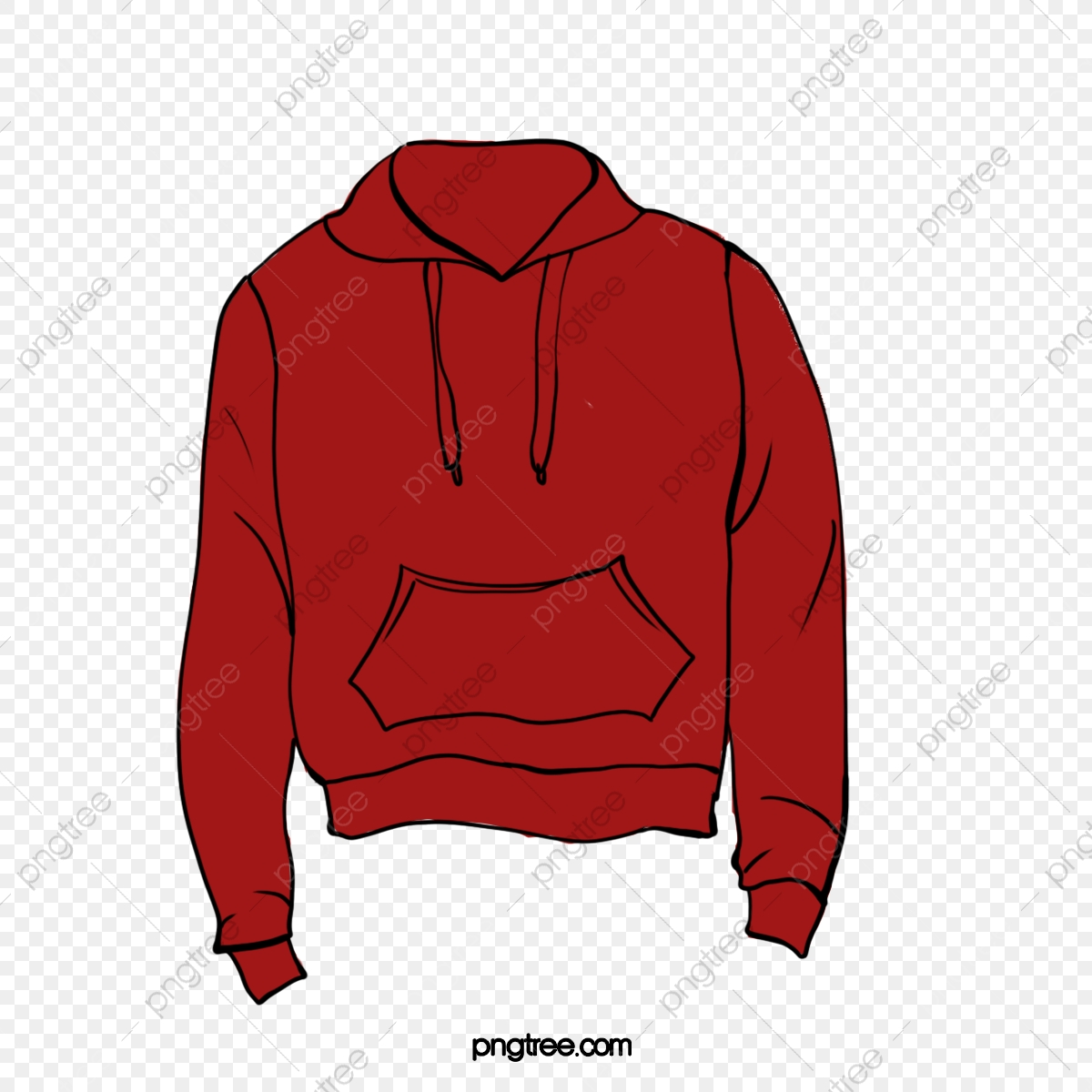 Hoodie clipart red hoodie. Vector old clothes washed