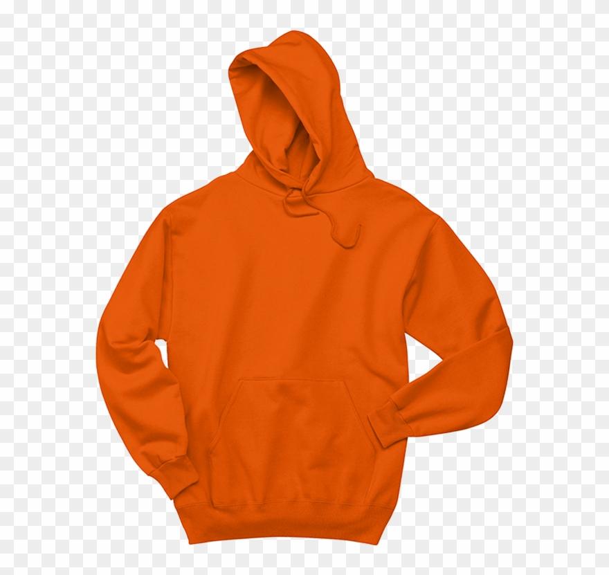 Orange polyester png . Hoodie clipart sweatshirt