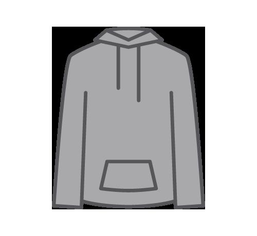 Custom designed sweatshirts sweatpants. Hoodie clipart sweatsuit