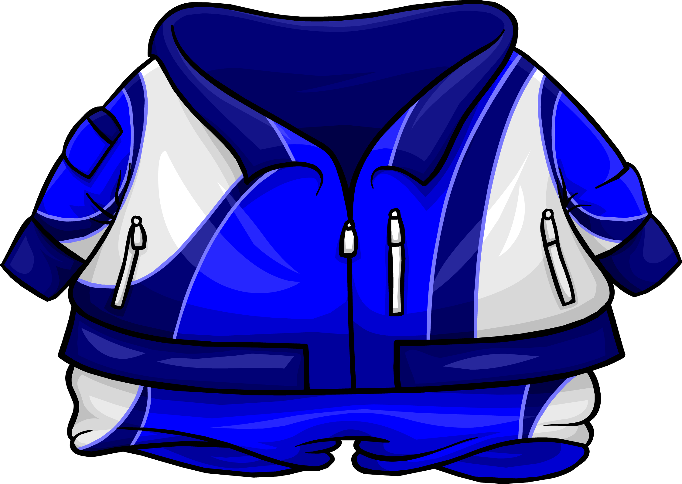 Blue tracksuit club penguin. Hoodie clipart sweatsuit
