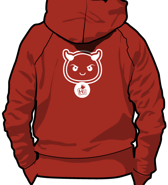 Hoodie clipart transparent. Happy chess demon maroon