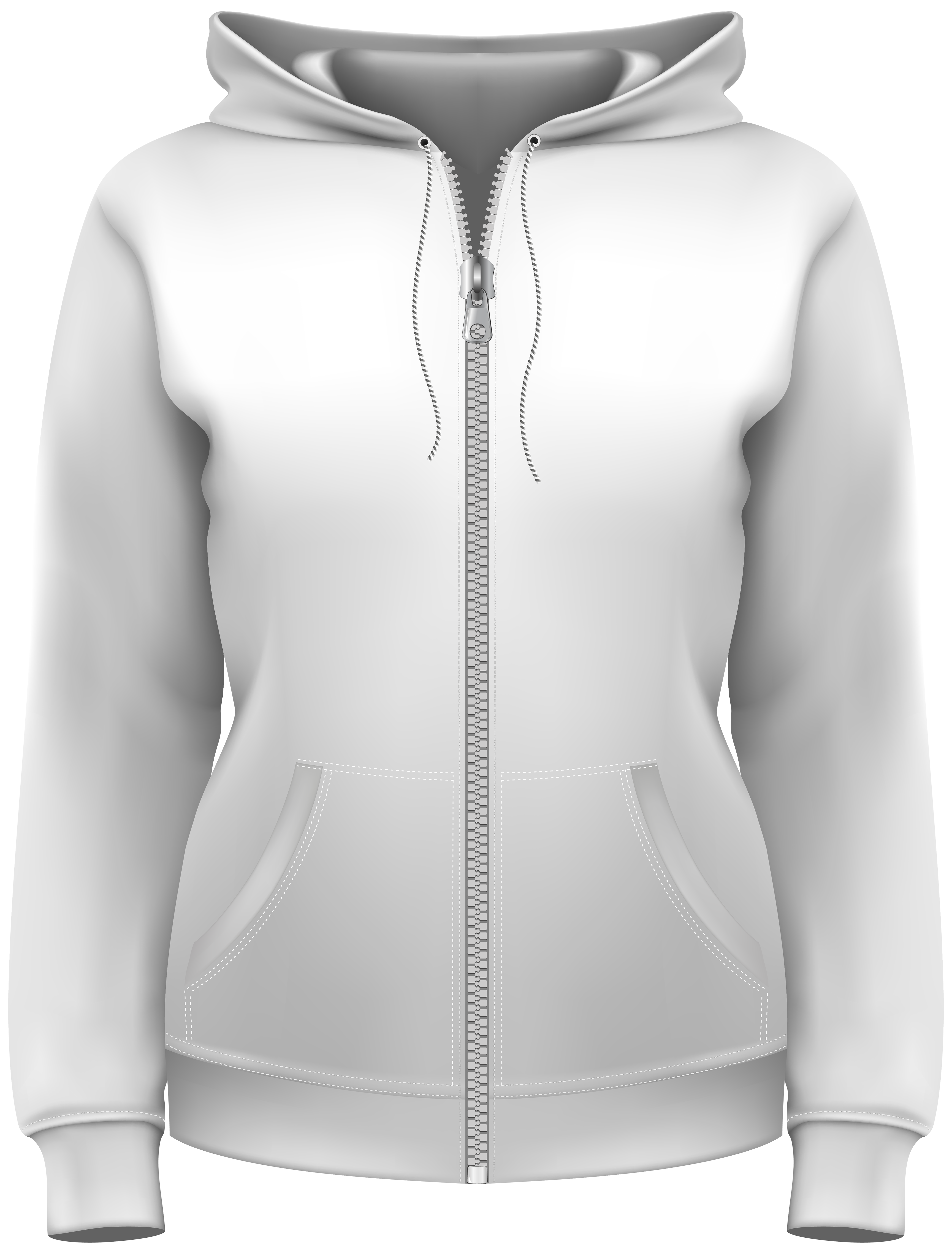 Zipper clipart realistic. White hoodie png best